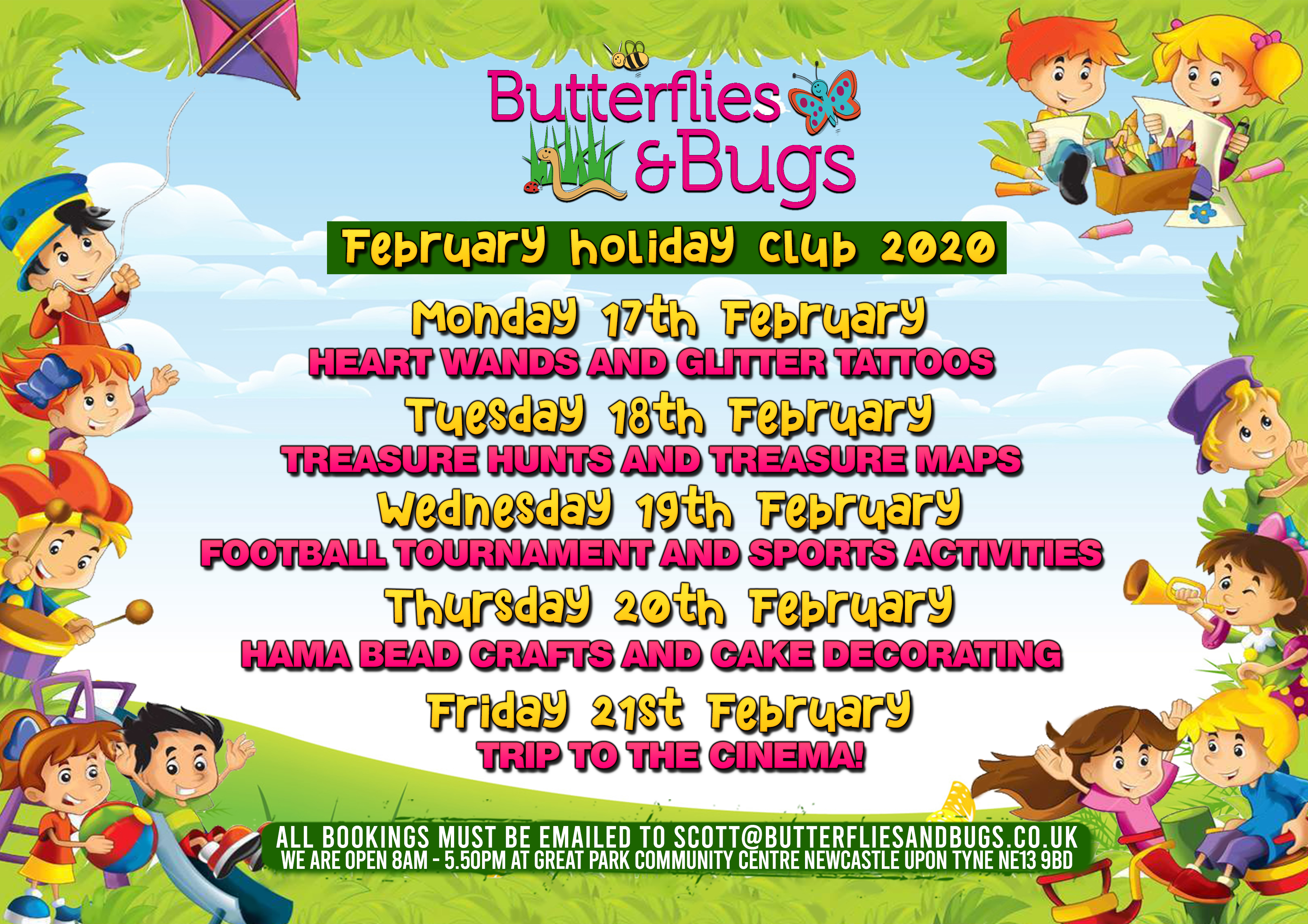 Butterflies & Bugs Holiday Camp