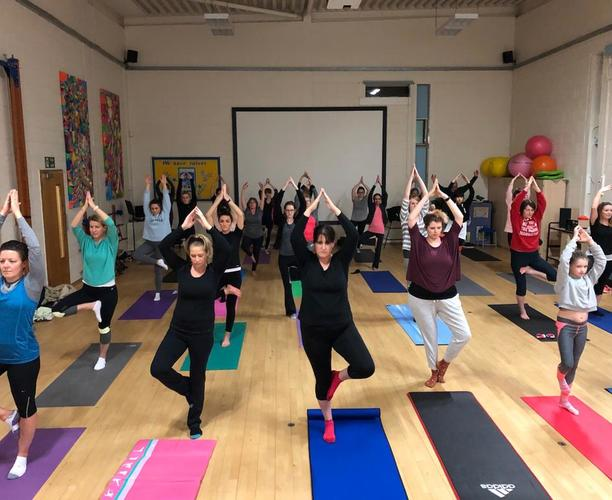 Yoga Classes in the Secondary School Gymnasium