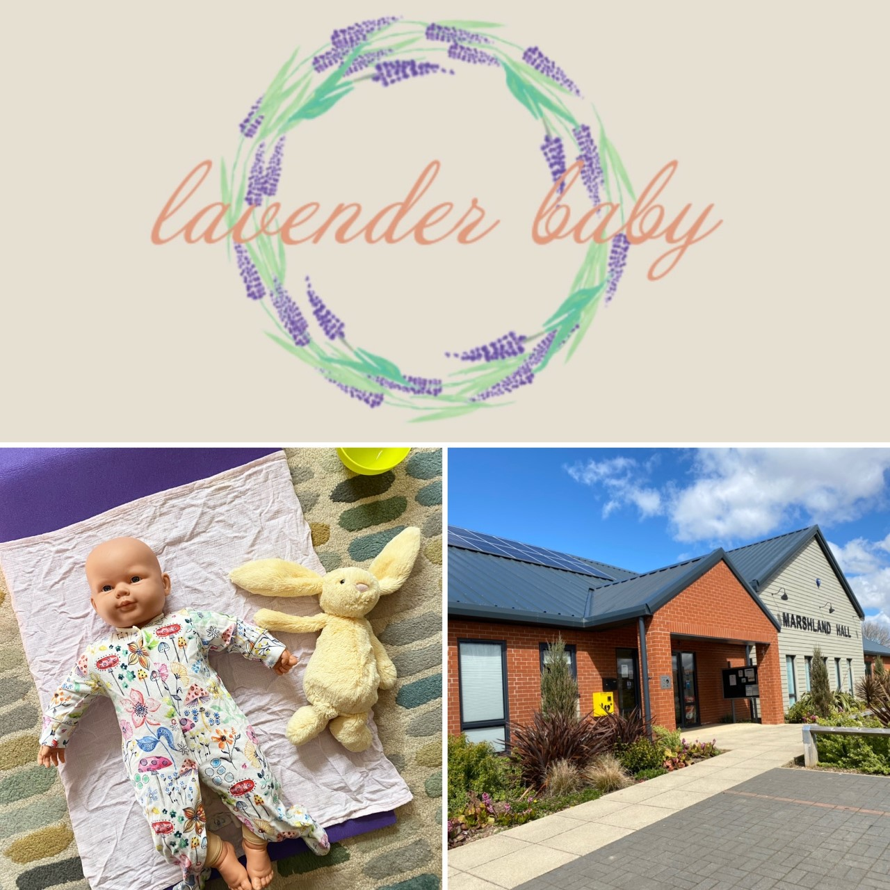 Baby massage with Lavender Baby