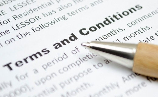 Regular terms and conditions
