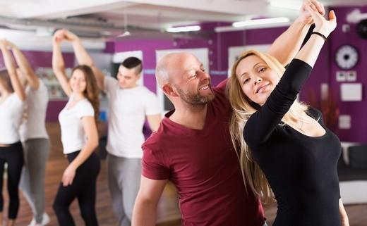 Regular adults dance class
