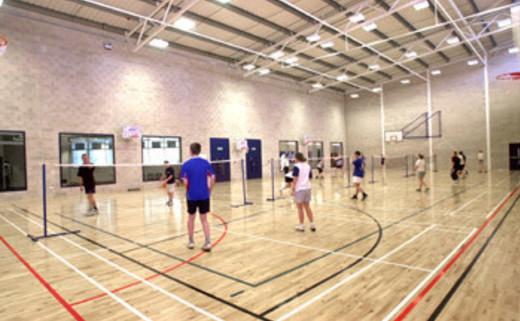 Regular games hall people badminton