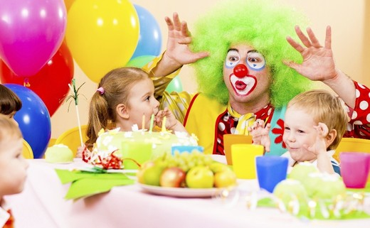 Regular kids party clown category