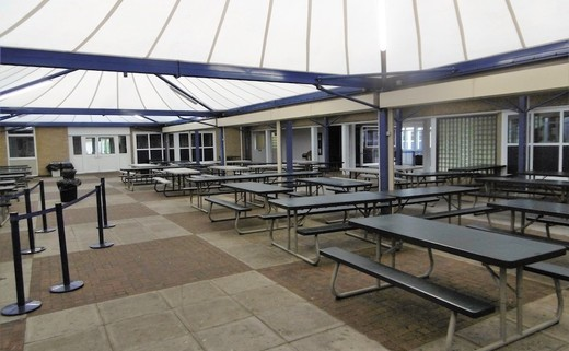 Regular outside canopy area