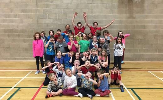 Regular kids camp sports hall