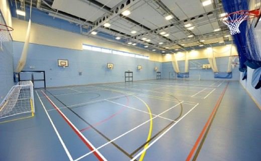 Regular sports hall from slt larger