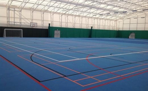 Regular whole indoor sport space