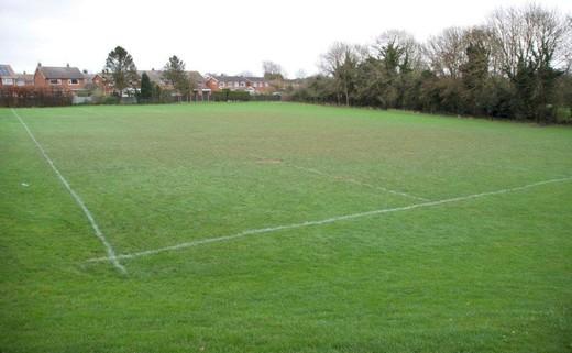 Regular grass area